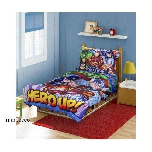 Superior Marvel Super Hero Squad Bedding Set Comforter Sheets Toddler Bed Baby Crib  Cover