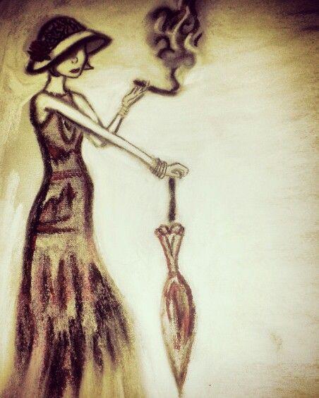 1920s lady smoking