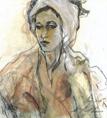 "Saatchi Art Artist Ute Rathmann; Drawing, ""Hommage à Ingres XXVI"" #art"