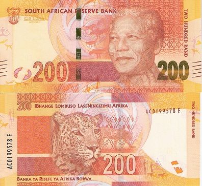 South Africa 200 Rand pNew 2012 UNC Banknote