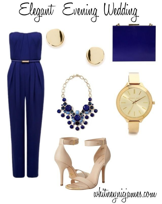 Image result for navy jumpsuit gold jewellery