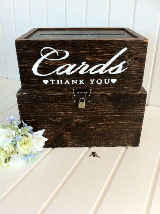 Large Cards Box Rustic Wedding Cards Box by DownInTheBoondocks, $110.00