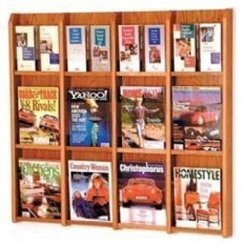 Wooden Mallet  Brochure Wall Display Medium Oak Lm Mo