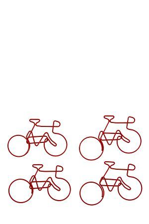 """Pack of 4 bicycle paper clips, great for keeping important papers together. Awesome gifting idea.<div class=""""pdpDescContent""""></div>"""