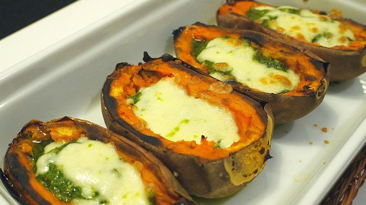 Polskie South Beach: Pieczone słodkie ziemniaki z pesto