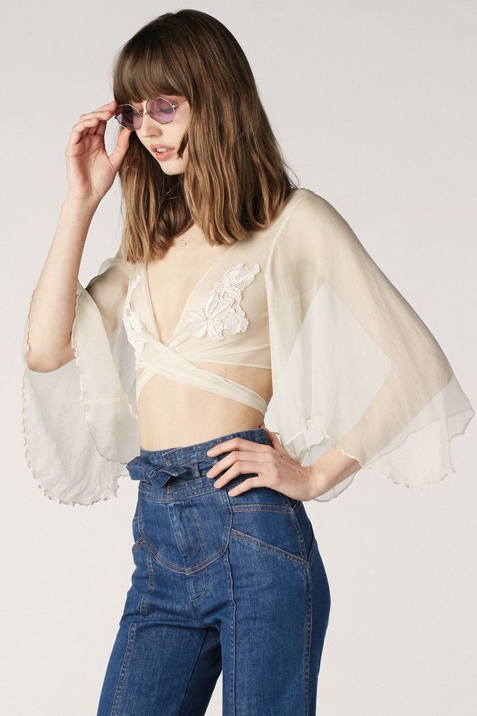 Stevie Chiffon Wrap Top – Stoned Immaculate Clothing