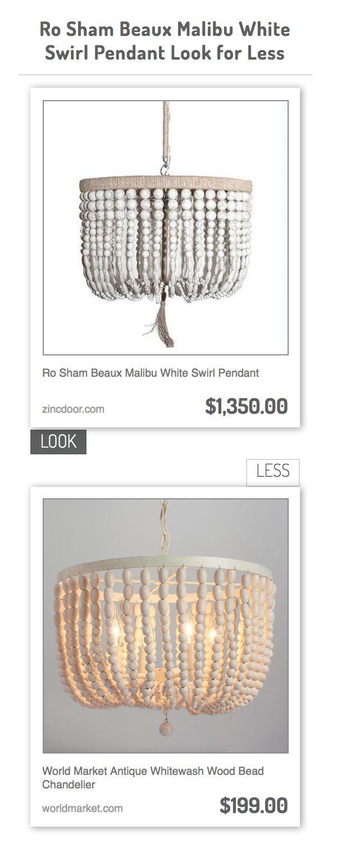 ro sham beaux malibu white swirl pendant vs world market antique whitewash wood bead chandelier - Wood Bead Chandelier
