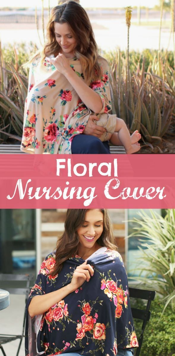 Floral Nursing Cover Ponchos. These are so pretty! And they also work as a car seat cover and shopping cart cover. Perfect baby shower gift idea for any breastfeeding mama #ad