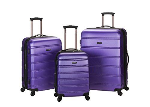 New Trending Luggage: Rockland Luggage Melbourne 3 Piece Abs Luggage Set, Purple, Medium. Rockland Luggage Melbourne 3 Piece Abs Luggage Set, Purple, Medium   Special Offer: Too low to display      311 Reviews This 3 piece set is made of abs. The major benefits of this material – it is extremely lightweight, it is durable, and protects the contents of your luggage. Eight...