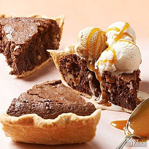 Satisfy your sweet tooth with this unbeatable combination of gooey brownies and flaky pie crust./