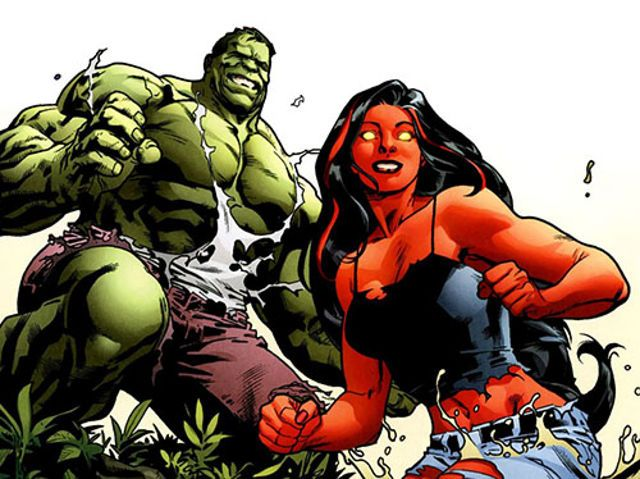 10 Best Known Married Super Couples | obert Bruce Banner (The Hulk)/ Betty Ross (Red She-Hulk)