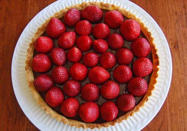 Chocolate Ganache Tart with Fresh Strawberries; or How to Make Sweet Tart Dough by formerchef on May 9, 2009