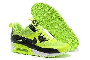 Economiche fluorescenti-verdi,nere,bianche - femminili nike scarpe da running air max 90 mid no sew outlet online italia