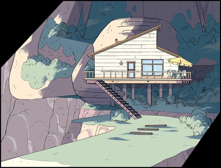 Steven Universe ep. Keystone Motel, Art Direction Jasmin Lai, Design: Steven Sugar and Emily Walus, Paint Amanda Winterstein and Ricky Cometa