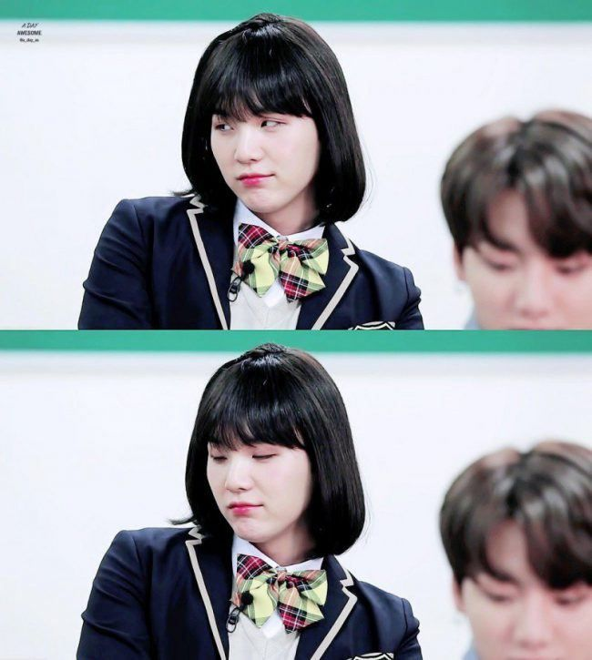 BTS Suga Transforms Into A Gorgeous High School Girl — Koreaboo