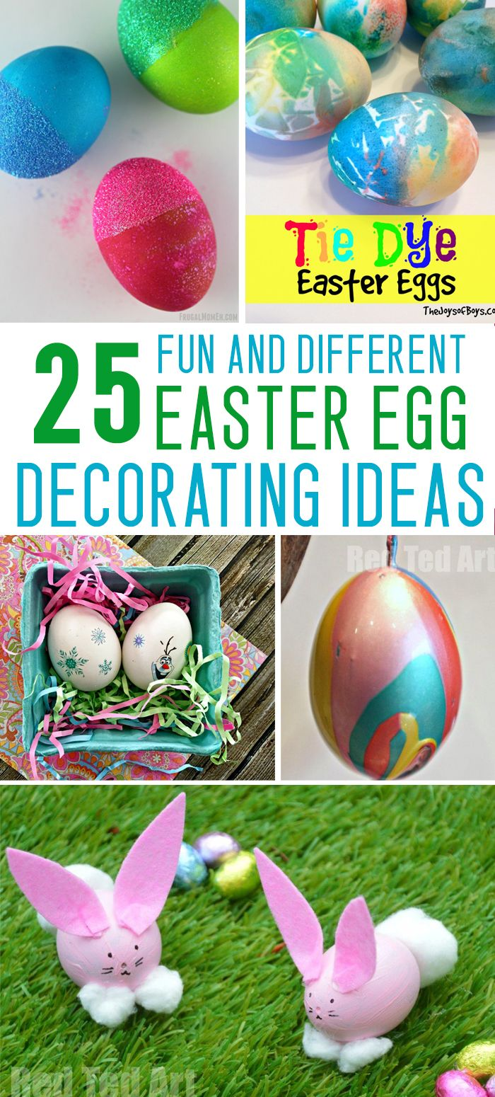AWESOME Easter egg decorating ideas for kids! WAY beyond the average dyed egg!