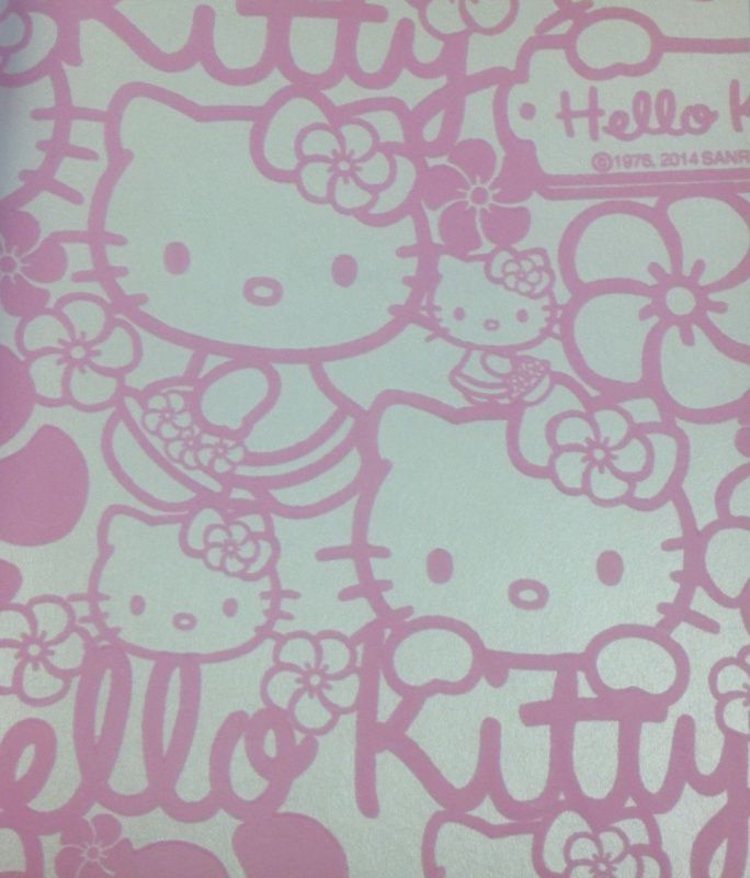 04.  Kids@home Hello Kitty behang FLOCK 70-227