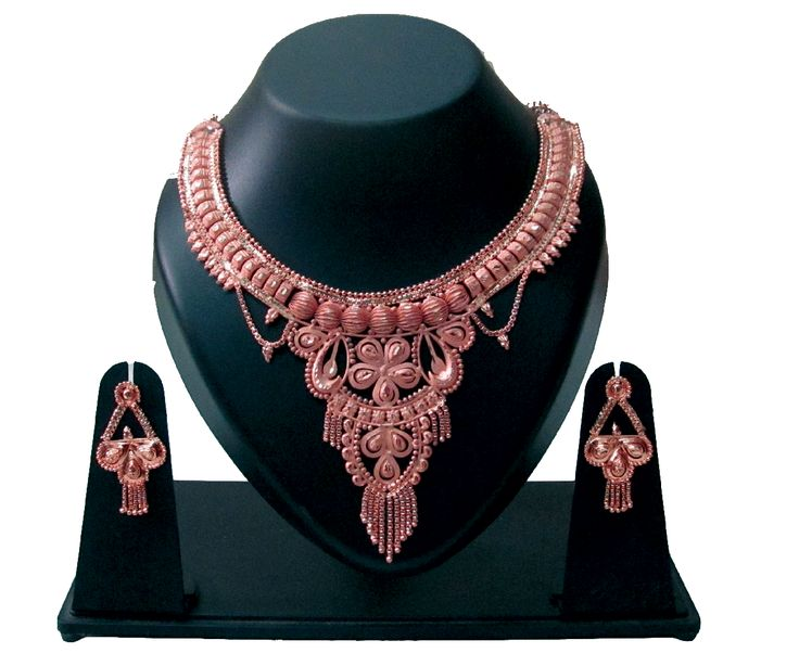 Designer Copper Necklace.  SKU: CJN000920015 Price: INR 449