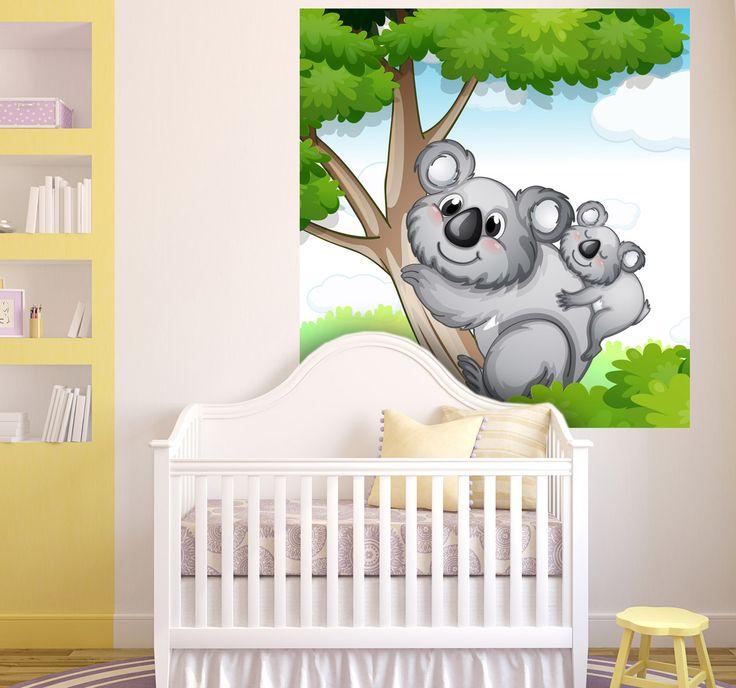 Sticker dessin koala et bebe