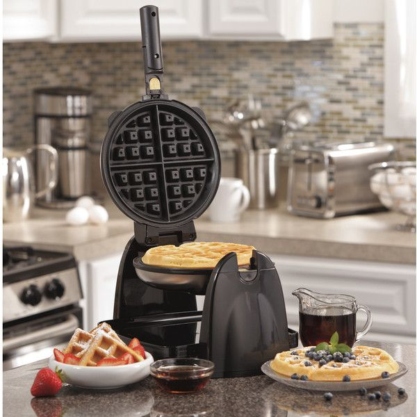 Hamilton Beach 26030 Belgian Waffle Maker (Metal) (195 SAR) ❤ liked on Polyvore featuring home, kitchen & dining, small appliances, hamilton beach waffle iron, hamilton beach, hamilton beach waffle baker, belgian waffle maker and hamilton beach waffle maker