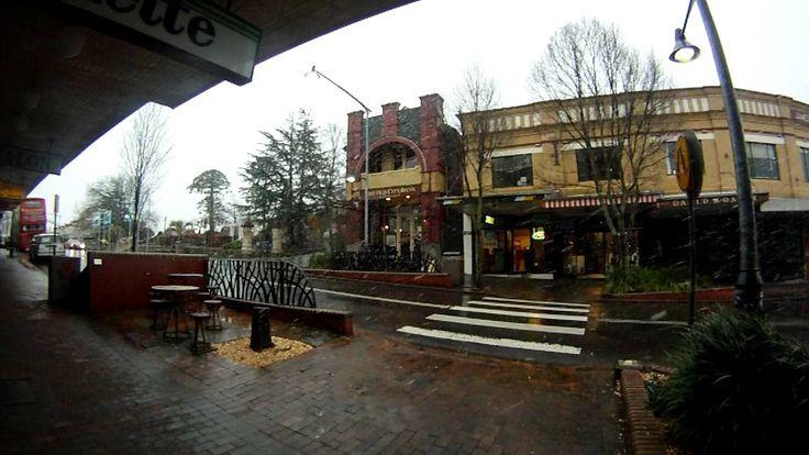 Snow in Katoomba NSW Australia 21/06/2011