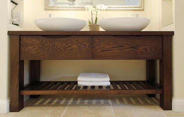 Handmade Free Standing Oak Bathroom Wash Stand