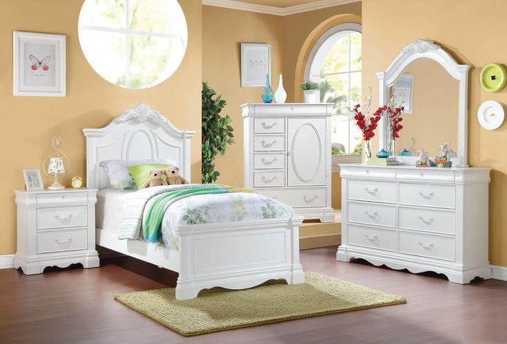 Estrella Collection White Finish Kids Bedroom Sets Kids Bedroom Sets Pinterest Kids