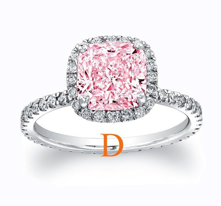 Top 25 ideas about pink diamond engagement rings on for Pink diamond wedding rings
