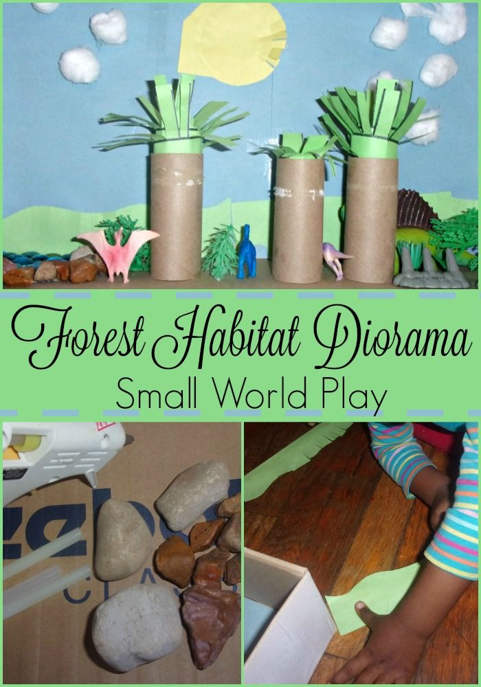 Forest Habitat Diorama-Small World Play