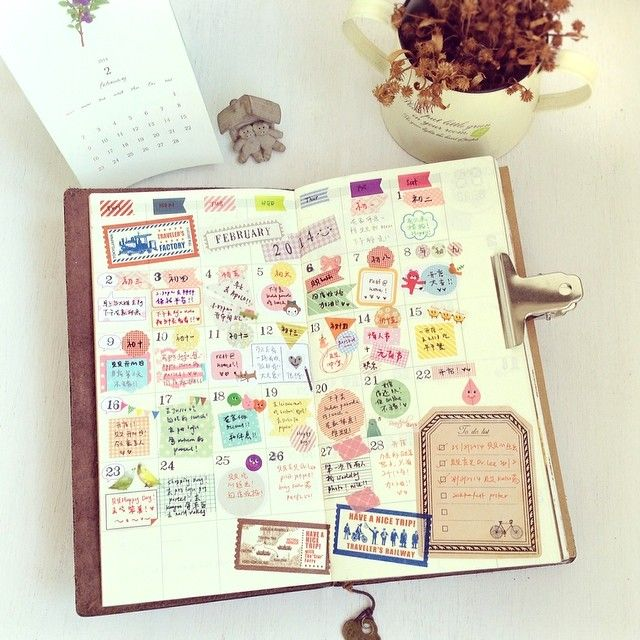 Instagram @iverylovebeibei   二月。。。 貼得滿滿的,快樂滿滿的 *\(^o^)/*   Webstagram Midori Traveler's notebook