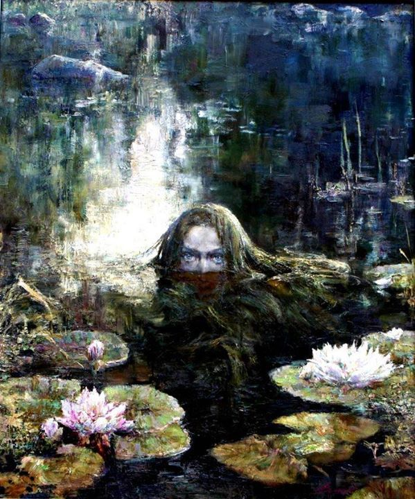 Rusalka by Anna Vinogradova born 1975 Krasnodar, Russia