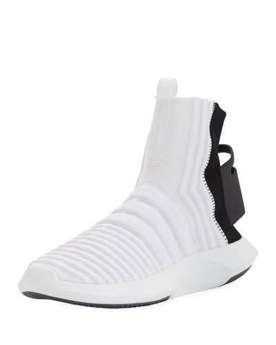 ADIDAS ORIGINALS MEN'S CRAZY 1 ADV HIGH TOP SOCK SNEAKER