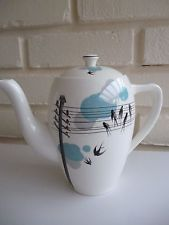 Alfred Meakin Tea Pot Swallows On A Wire Vintage 1950's