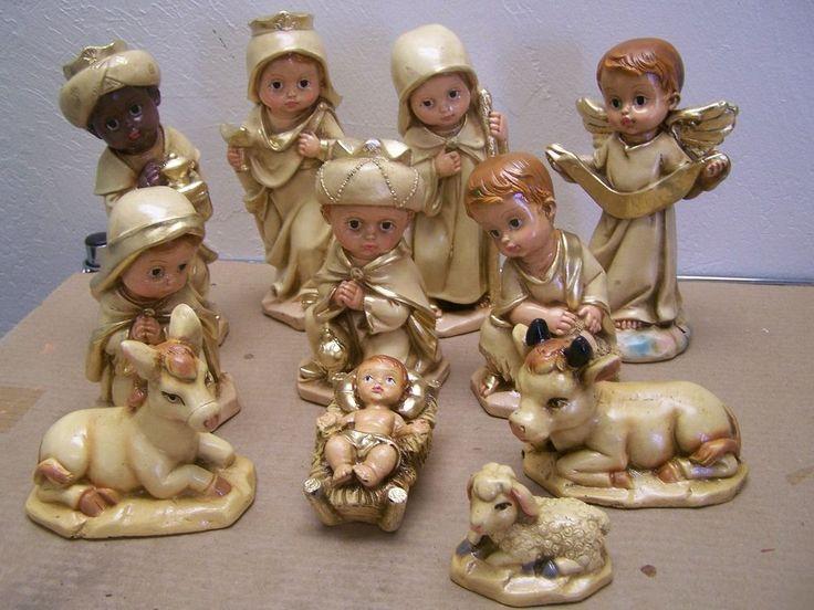 Medio Tonala 11 piezas conjunto de Natividad arcilla pintado a mano, tonos tierra-México | Objetos de colección, Festividades y temporadas, Navidad: Actual (1991- presente) | eBay!