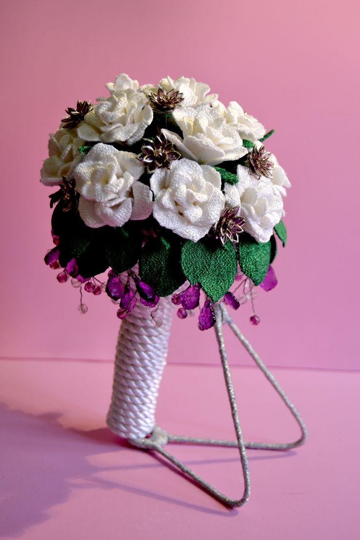 Ramo de novia  joya. para siempre. Flores bordadas, totalmente artesanal.