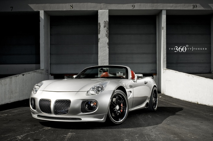 motoriginal:  Summer Solstice by Willam Stern Corvette powered Pontiac Solstice  Location: Miami, Florida It's textbook. Take a small, light car with lots of potential and drop a monster engine into it. The monster this time is a Chevy Corvette V8 LS2. It rides on 360 Forged Spec 7 wheels and the interior is beautifully crafted making this Solstice a small, but complete package.