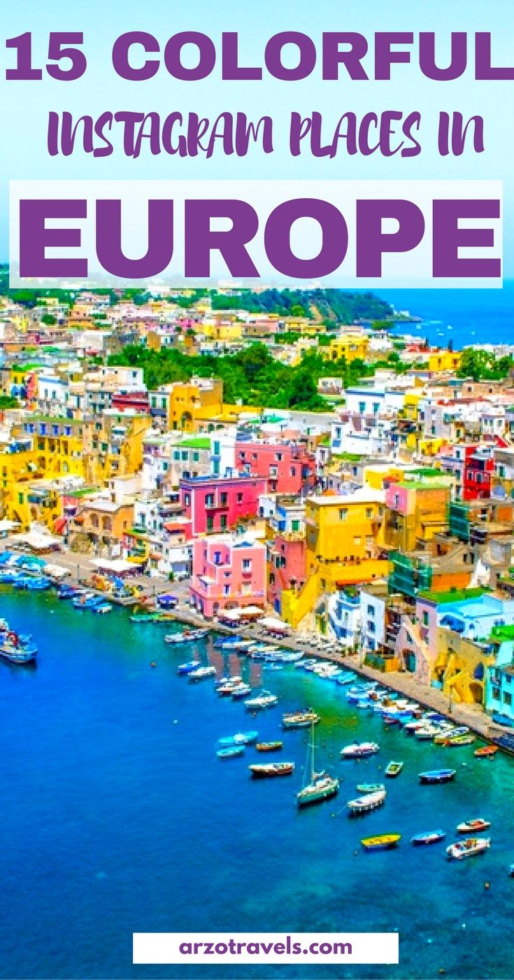 15 Perfect Places for Instagrammers in Europe - Places which are picture perfect and very colorful. Italy.