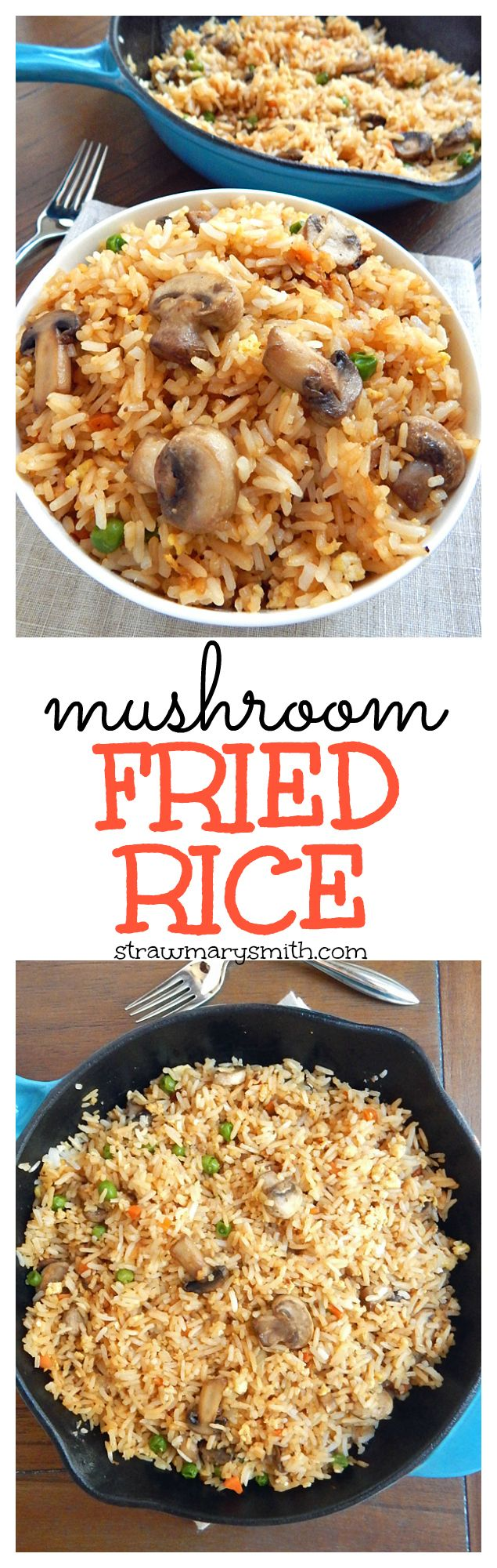 Mushroom Fried Rice is a weeknight skillet meal for two that's ready in just 20 minutes, and it's gluten free!