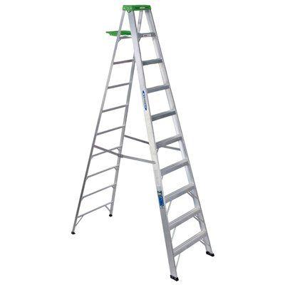 Werner 10-ft Type II Aluminum Step Ladder