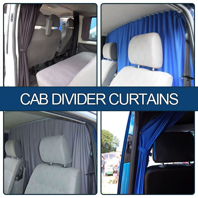 "VW T5 / VW T6 Transporter Cab Divider Curtain Kit ""BRAND NEW"" Van-X in Home, Furniture & DIY, Curtains & Blinds, Curtains & Pelmets 