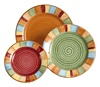 """American made dinnerware by HF Coors.  Hand painted, Lead FREE. SAFE to cook with in the OVEN & Broiler at 1,000 degrees, Safe in the microwave, dishwasher and freezer.  Restaurant durability-""""busboy PROOF""""!"""