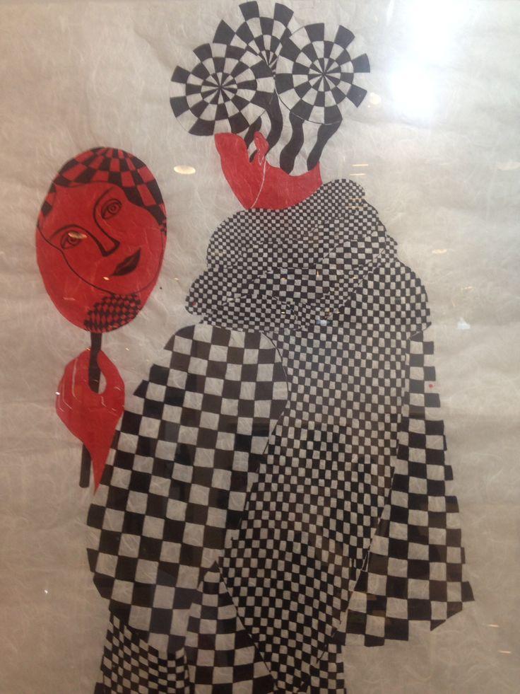 Selma Gürbüz Pattern  Black/White/Red