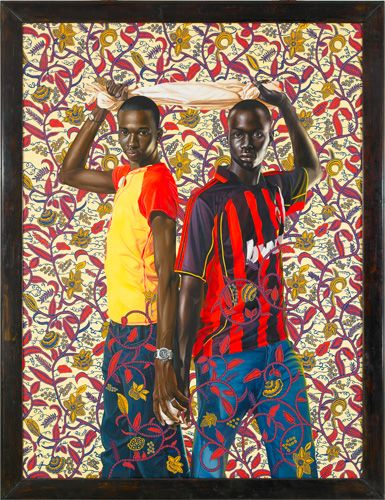 "Place Soweto (National Assembly), 2008  Oil on canvas 96"" x 72""  -Kehinde Wiley Studio"