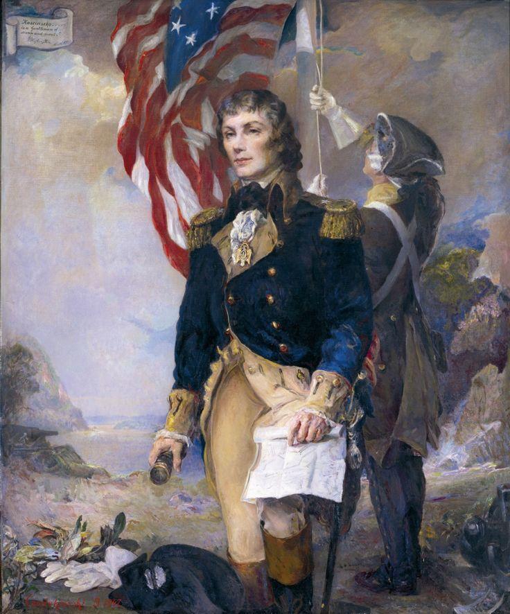Kosciuszko at West Point - by Boleslaw Jan Czedekowski (b.1885); oil on canvas; donated by the artists, 1947.