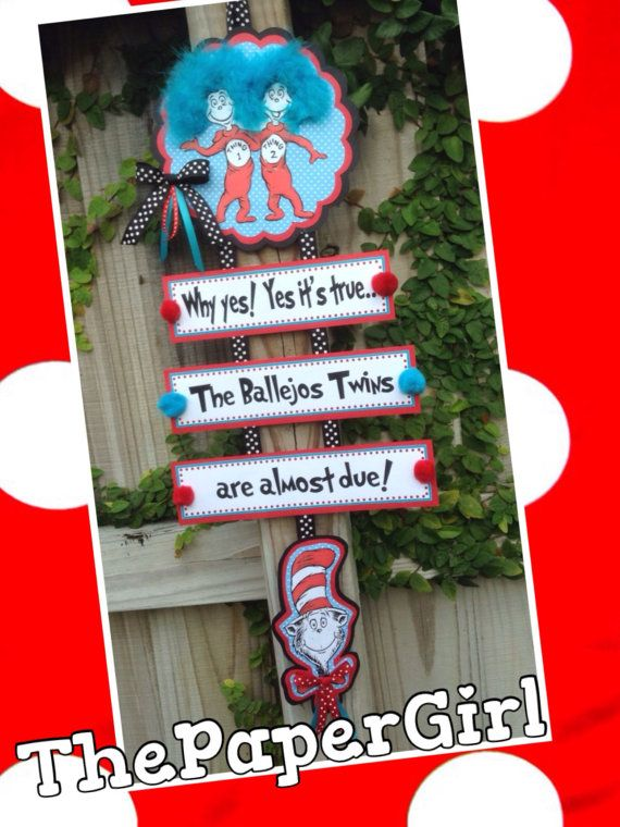 Dr seuss Cat in the Hat Thing One Thing Two by ThePaperGirlbyANM, $28.00