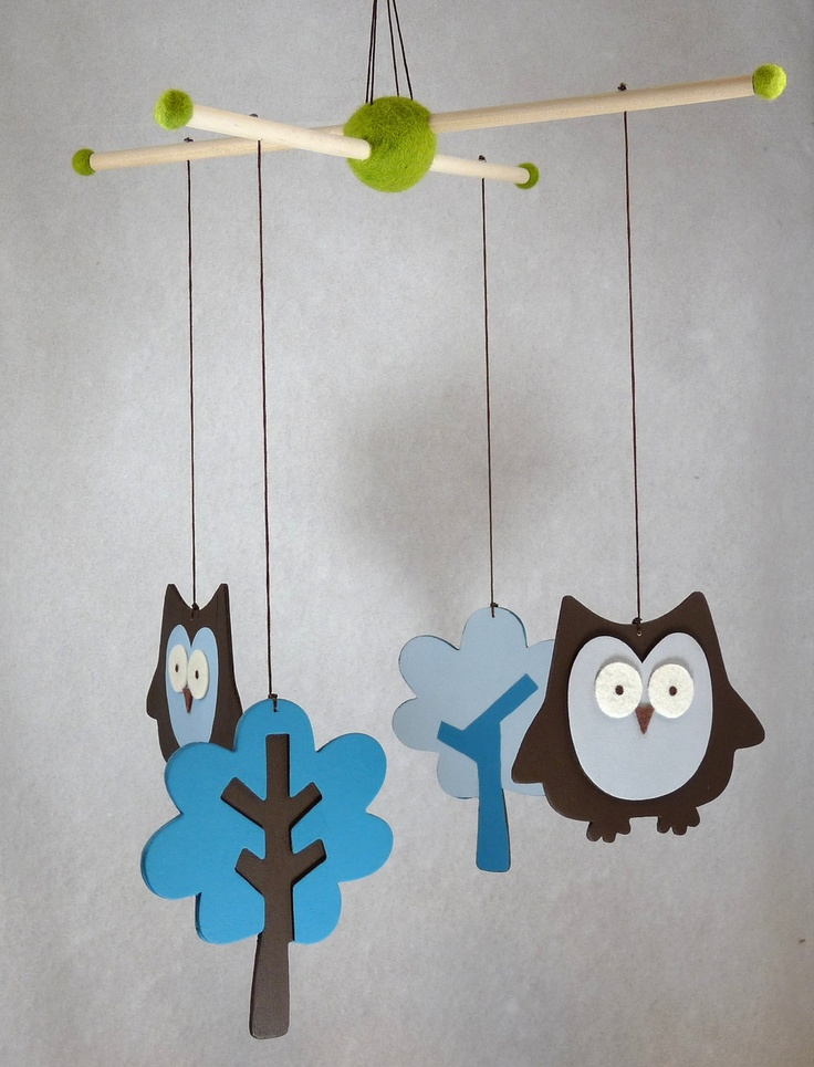 love :)     Owl Baby mobile/custom colors/boygirl/match by FactoryOfIdeas, $38.25