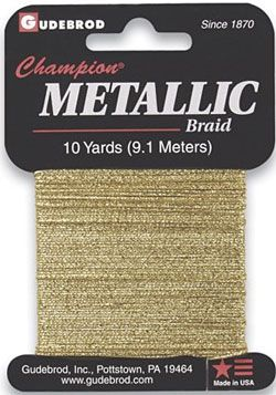 Mettalic braid / 1pc This Mettalic braid is a high tensile ribbon used for creating countless effects for memory book projects, can also used to string large hole beads to make necklace. It is also perfect for creating beautiful patterns sewn in a project.  #ID3123