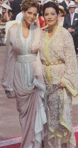 Princess lalla Mariam of Morocco with her daughter princess soukaina in prince Albert of Monaco's wedding #moroccancaftan