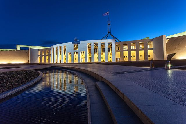 Love it or loathe it, this is the new parliament in Canberra.