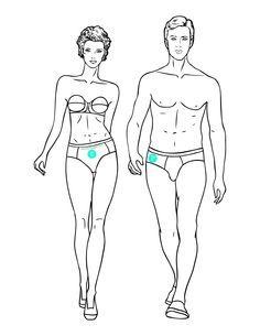 Utiliza esta plantilla de figurines caminando para tus ilustraciones de moda ¡Descárgala gratis!